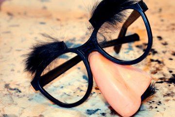 False nose and glasses