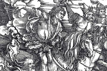 Albrecht Durer - Four Horsemen of the Apocalypse painting