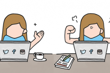 Cartoon showing frustration with computers
