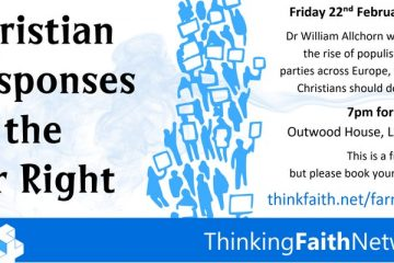Poster for Christian Responses to the Far Right event