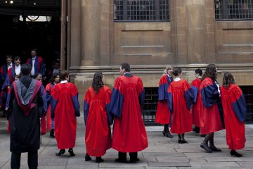 Students in DPhil gowns