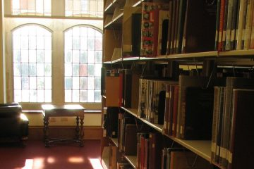 Library with reading chair