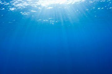 Sunlight through water