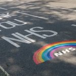 """""""Thank you NHS"""" message painted on road"""